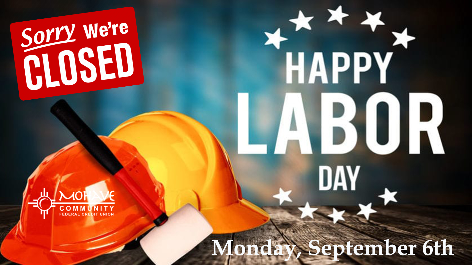 We will be closed Monday, September 6th in observance of Labor Day.